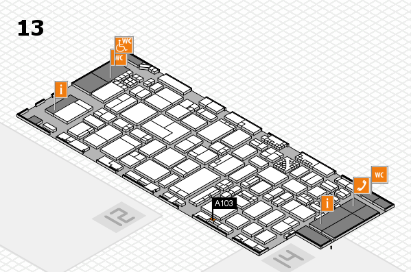ProWein 2017 hall map (Hall 13): stand A103