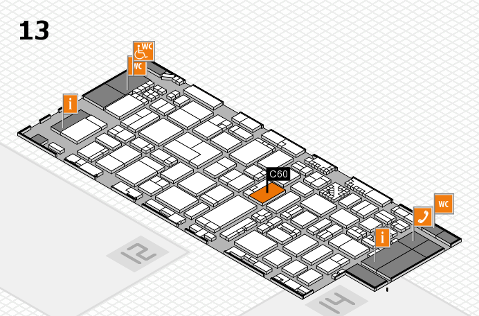 ProWein 2017 hall map (Hall 13): stand C60