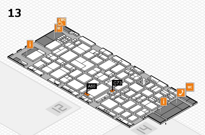 ProWein 2017 Hallenplan (Halle 13): Stand A60, Stand C73