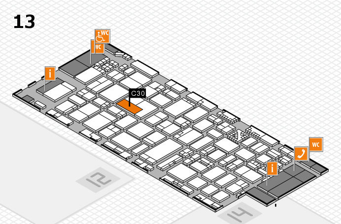 ProWein 2017 hall map (Hall 13): stand C30