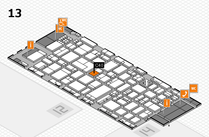 ProWein 2017 hall map (Hall 13): stand C40