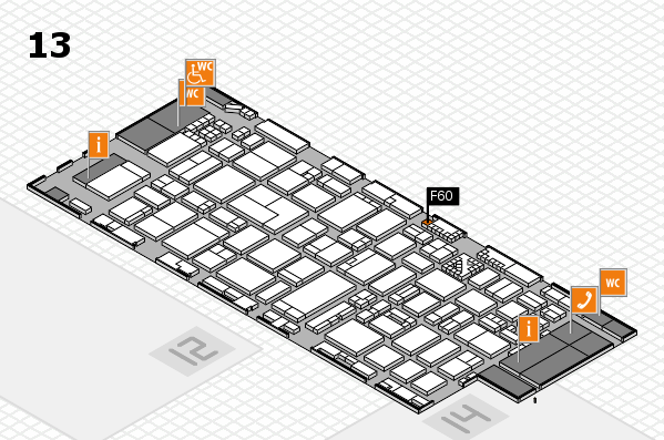 ProWein 2017 hall map (Hall 13): stand F60