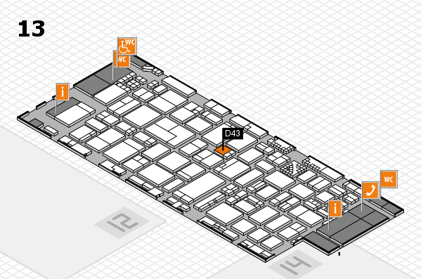 ProWein 2017 hall map (Hall 13): stand D43