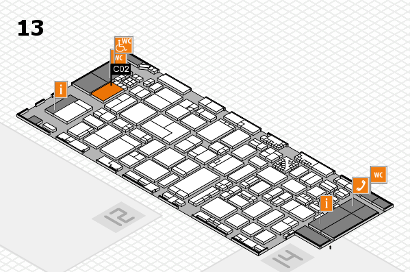 ProWein 2017 hall map (Hall 13): stand C02