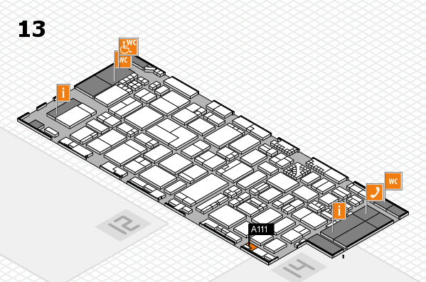ProWein 2017 hall map (Hall 13): stand A111