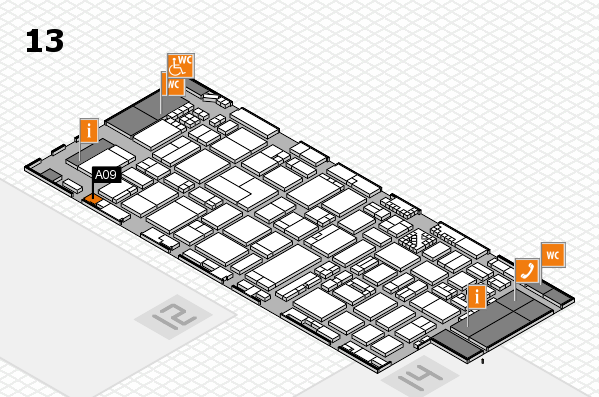 ProWein 2017 hall map (Hall 13): stand A09