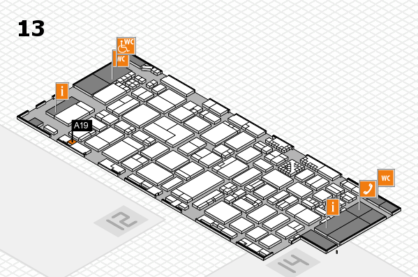 ProWein 2017 hall map (Hall 13): stand A19