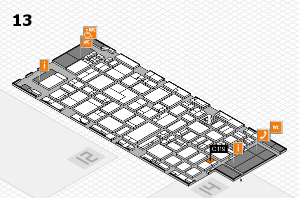 ProWein 2017 hall map (Hall 13): stand C119