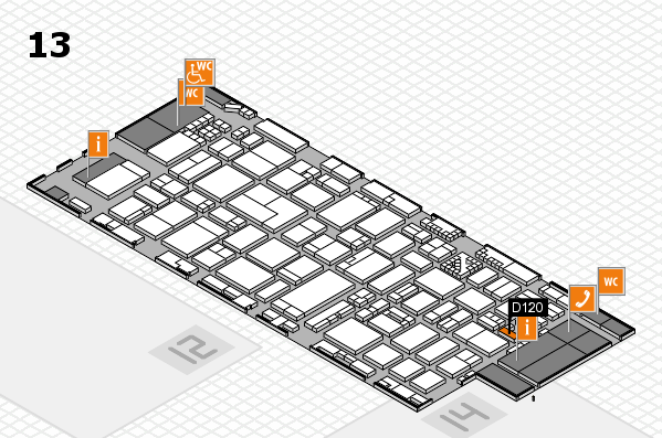 ProWein 2017 hall map (Hall 13): stand D120
