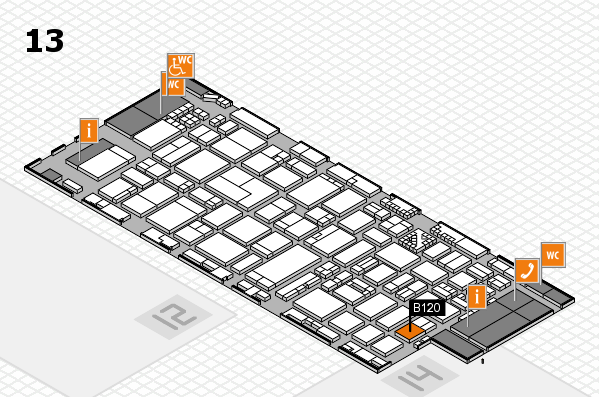 ProWein 2017 hall map (Hall 13): stand B120