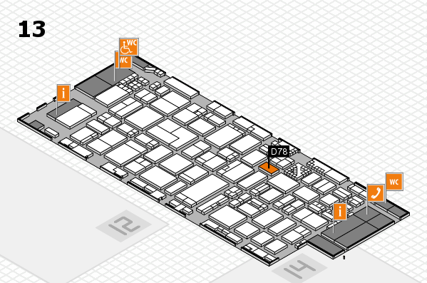 ProWein 2017 hall map (Hall 13): stand D78