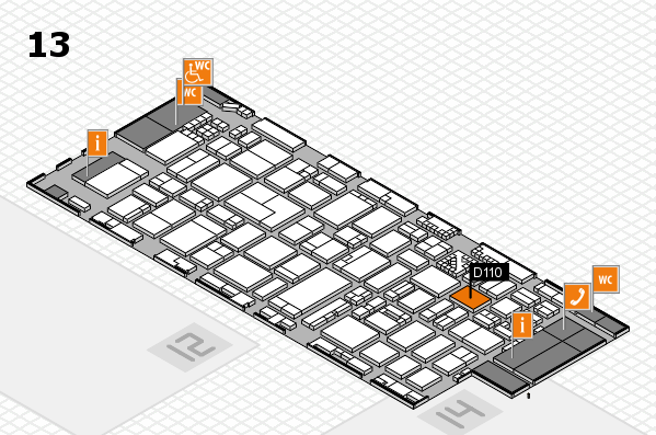 ProWein 2017 hall map (Hall 13): stand D110