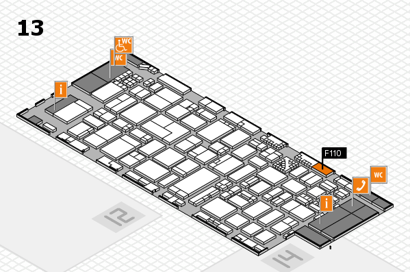ProWein 2017 hall map (Hall 13): stand F110