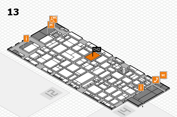 ProWein 2017 hall map (Hall 13): stand D42