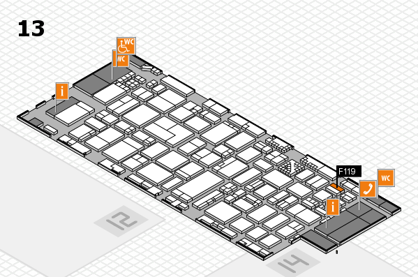 ProWein 2017 hall map (Hall 13): stand F119
