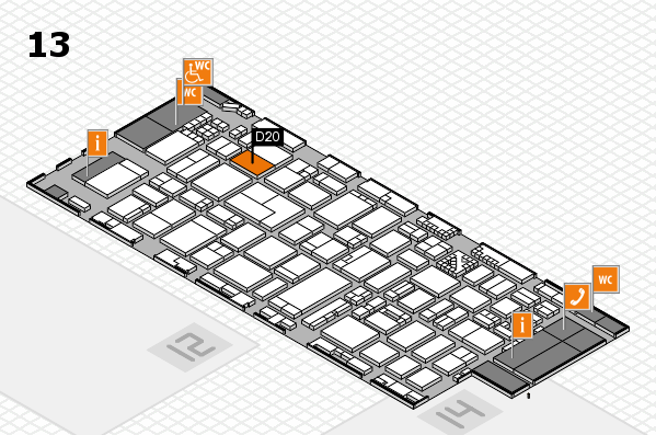 ProWein 2017 hall map (Hall 13): stand D20