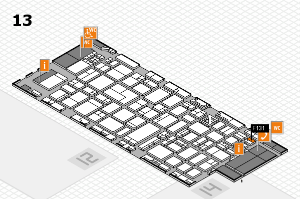 ProWein 2017 hall map (Hall 13): stand F131