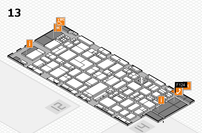 ProWein 2017 hall map (Hall 13): stand F124
