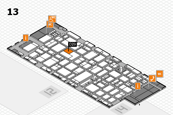 ProWein 2017 hall map (Hall 13): stand D29