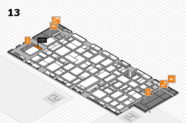 ProWein 2017 hall map (Hall 13): stand C01