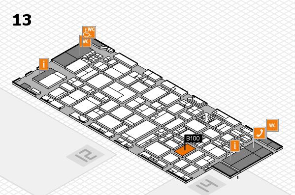 ProWein 2017 hall map (Hall 13): stand B100