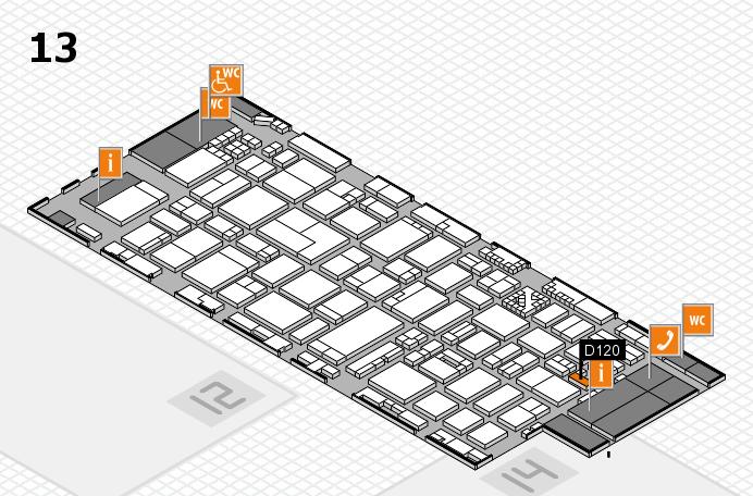 ProWein 2017 Hallenplan (Halle 13): Stand D120