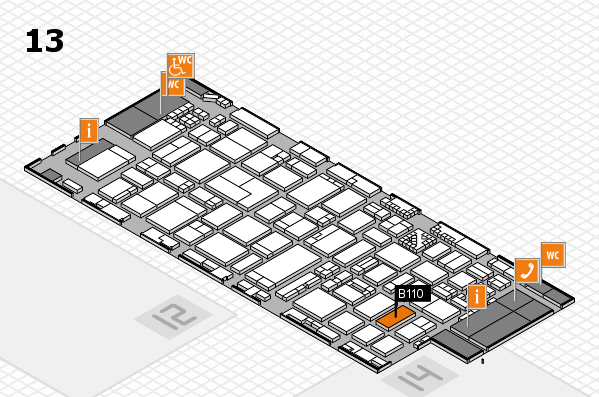 ProWein 2017 hall map (Hall 13): stand B110