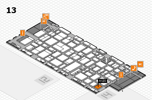 ProWein 2017 hall map (Hall 13): stand A120