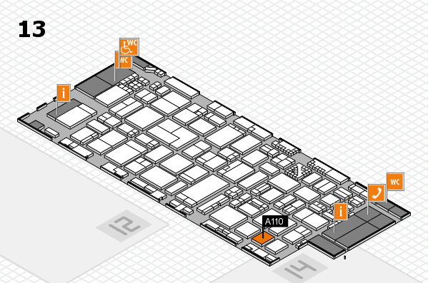 ProWein 2017 hall map (Hall 13): stand A110