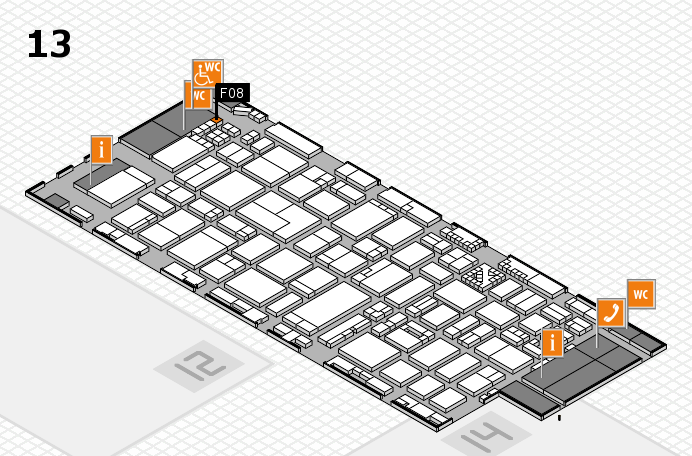 ProWein 2017 hall map (Hall 13): stand F08