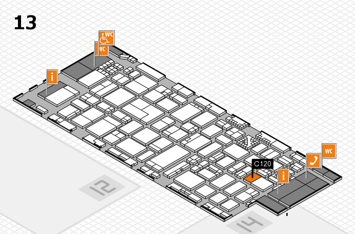 ProWein 2017 hall map (Hall 13): stand C120