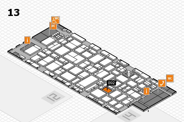 ProWein 2017 hall map (Hall 13): stand B92