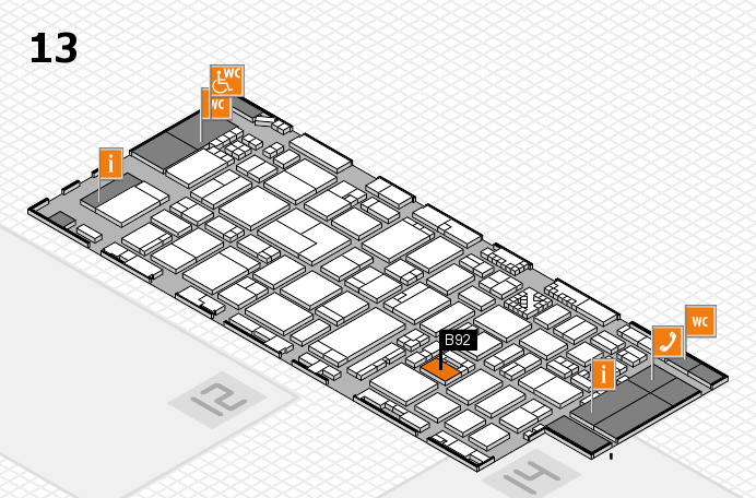 ProWein 2017 hall map (Hall 13): stand B92