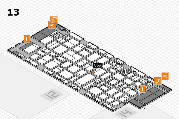 ProWein 2017 Hallenplan (Halle 13): Stand C58