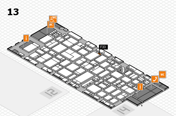ProWein 2017 hall map (Hall 13): stand F33