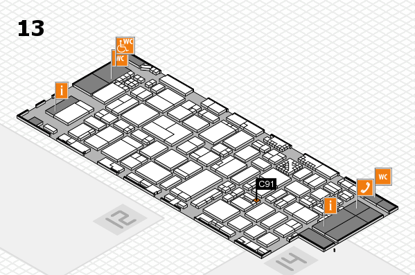 ProWein 2017 hall map (Hall 13): stand C91