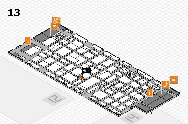 ProWein 2017 Hallenplan (Halle 13): Stand B54