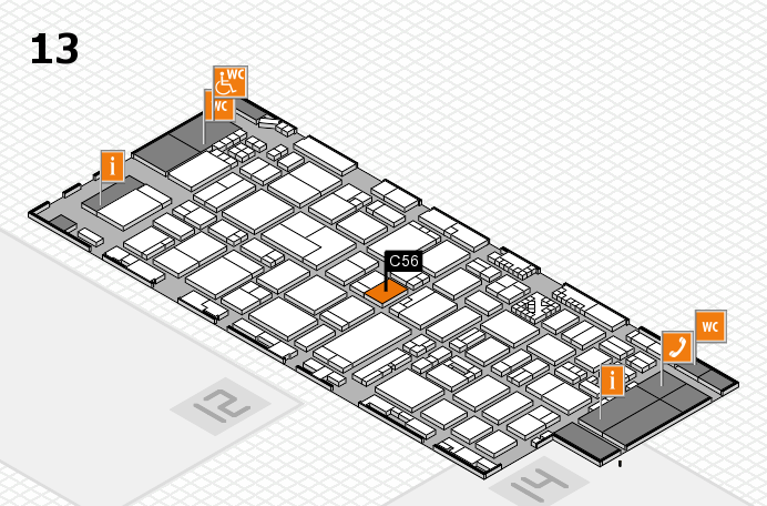 ProWein 2017 hall map (Hall 13): stand C56