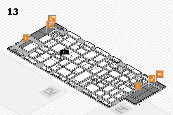 ProWein 2017 hall map (Hall 13): stand B30