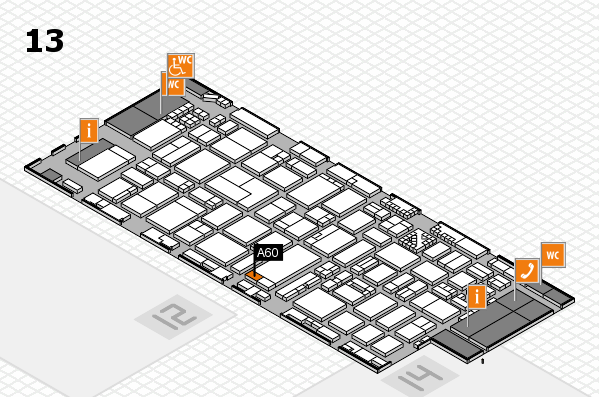 ProWein 2017 hall map (Hall 13): stand A60