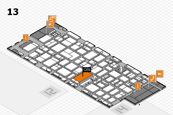 ProWein 2017 hall map (Hall 13): stand C59