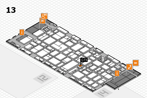 ProWein 2017 hall map (Hall 13): stand C73