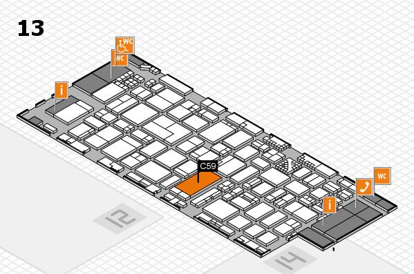 ProWein 2017 Hallenplan (Halle 13): Stand C59