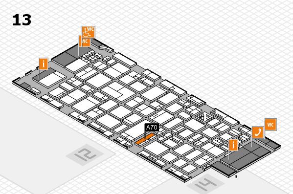 ProWein 2017 Hallenplan (Halle 13): Stand A70