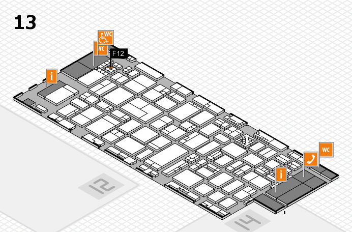 ProWein 2017 hall map (Hall 13): stand F12