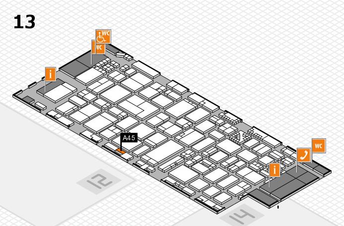 ProWein 2017 Hallenplan (Halle 13): Stand A45