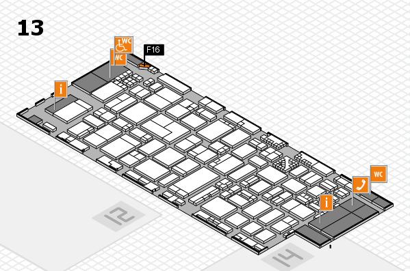 ProWein 2017 Hallenplan (Halle 13): Stand F16