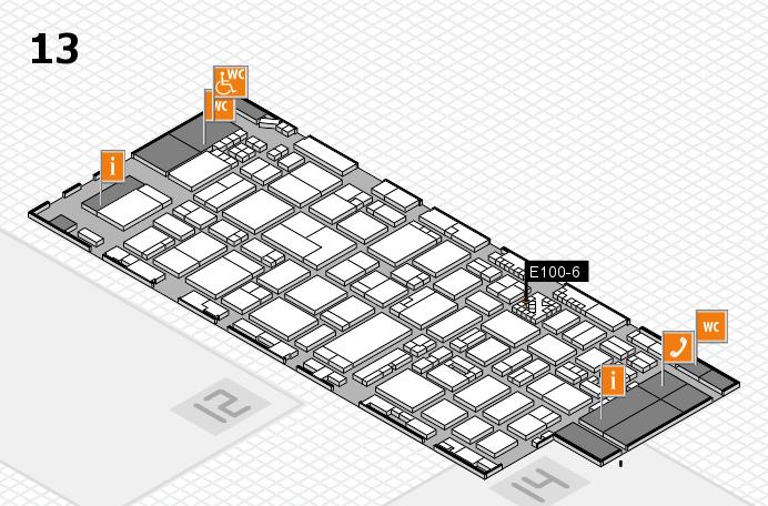 ProWein 2017 hall map (Hall 13): stand E100-6