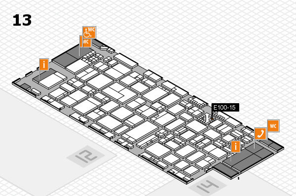 ProWein 2017 hall map (Hall 13): stand E100-15