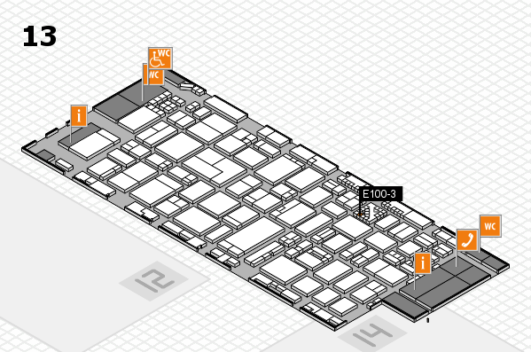 ProWein 2017 hall map (Hall 13): stand E100-3